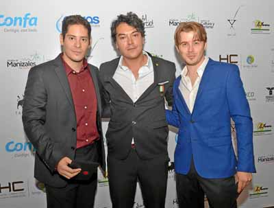 Antonio Vigna, actor; Jorge Ospina, director de Videl, y Nicholas Clark, actor.