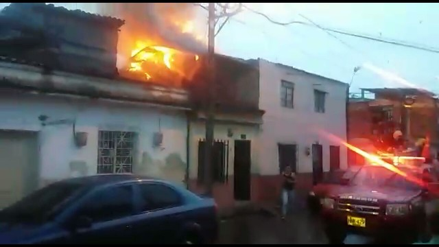 Incendio en Chinchiná