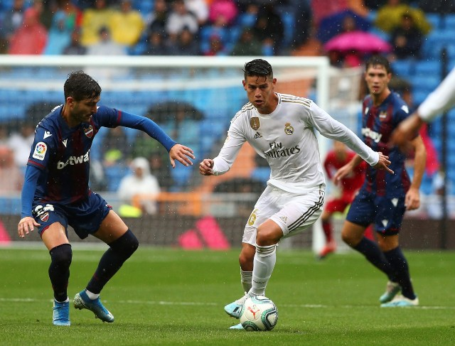 Con James en la cancha, Real Madrid vence al Levante