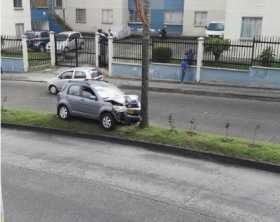 Accidente de tránsito en el barrio Campohermoso
