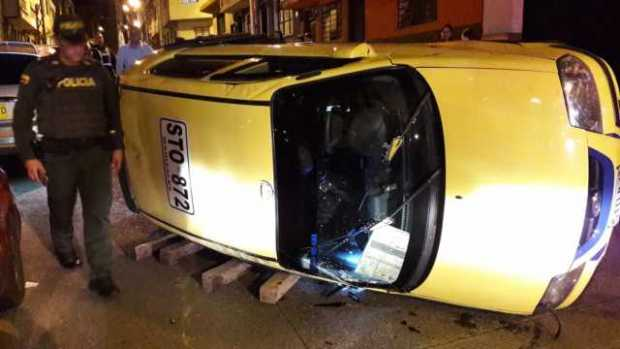Taxi accidentado
